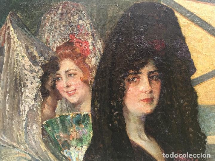 Arte: Tomás Muñóz Lucena (1860-1943) Pintor Español - Pintor Español - Óleo sobre tela - Majas - Foto 2 - 97154699
