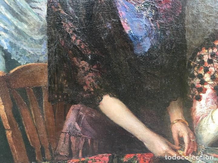 Arte: Tomás Muñóz Lucena (1860-1943) Pintor Español - Pintor Español - Óleo sobre tela - Majas - Foto 3 - 97154699