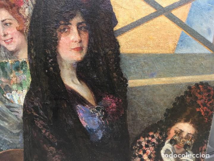 Arte: Tomás Muñóz Lucena (1860-1943) Pintor Español - Pintor Español - Óleo sobre tela - Majas - Foto 4 - 97154699
