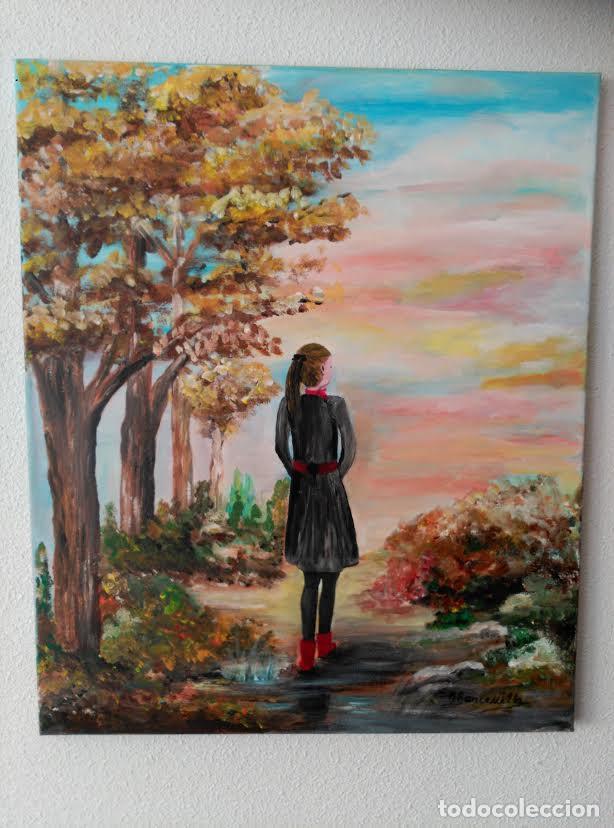 pintura al oleo acrilico sobre lienzo - niña pa - Comprar Pintura al ...
