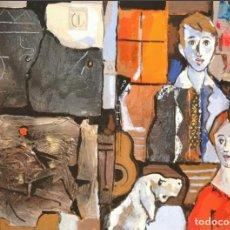 Arte: MIQUEL TORNER DE SEMIR. ÓLEO, MIXTA Y COLLAGE SOBRE LIENZO 105 X 85. Lote 97203291