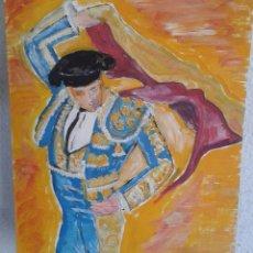 Arte - Figura torero. Oleo sobre lienzo. Obra original. - 97275795