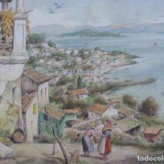 Arte: CARLOS SOBRINO (PONTEVEDRA 1885- VIGO 1978). RIA DE PONTEVEDRA. RAXÓ E ILLA DE TÁMBO.. Lote 97280203