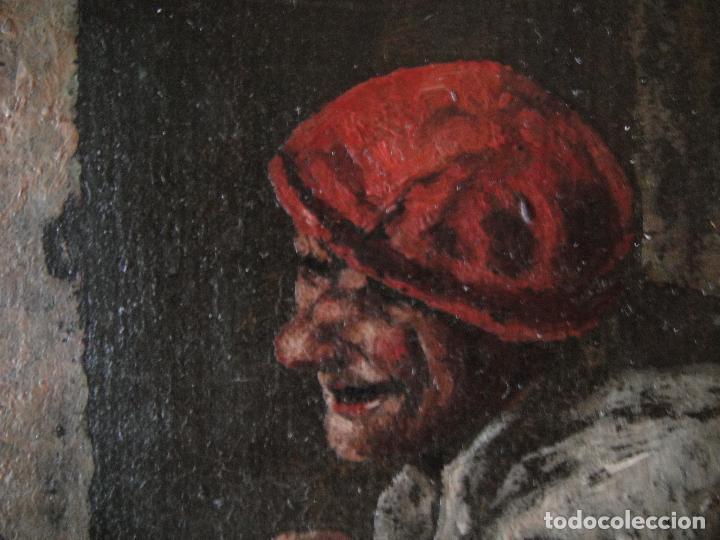 Arte: Extraordinaria pintura al oleo. Norte de Europa. Siglo 18/19 - Foto 3 - 97362803