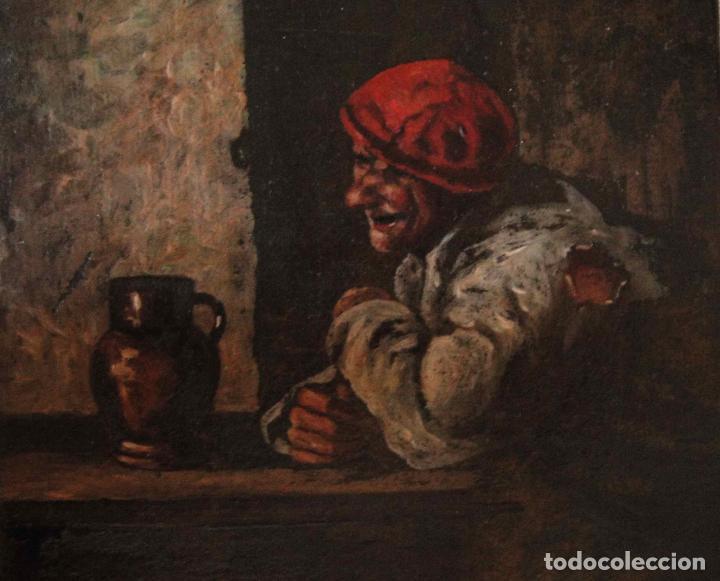 Arte: Extraordinaria pintura al oleo. Norte de Europa. Siglo 18/19 - Foto 7 - 97362803