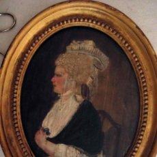 Arte: EXTRAORDINARIA PINTURA AL OLEO DE UNA DAMA INGLESA DATADA EN 1782. Lote 97364323