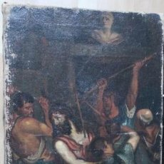 Arte: CRUCIFIXION. OLEO SOBRE LIENZO. FINALES XVIII. Lote 98942854