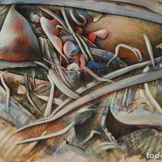 Arte: SISCO VIDAL.- TÉCNICA MIXTA SOBRE CARTÓN (VER FOTOS ADICIONALES) . Lote 97682179