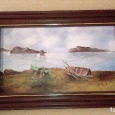 Arte: ÓLEO SOBRE TABLA. ENRIQUE MONTES. MARCO INCLUIDO.. Lote 88742952