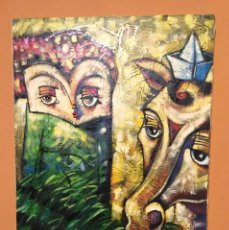 Arte: PINTURA CHICA CON CABALLO. Lote 97747463