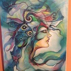Arte: PINTURA RETRATO HADA MARINA . Lote 97747863