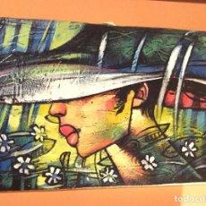 Arte: PINTURA CHICA CON GORRO. Lote 97748115