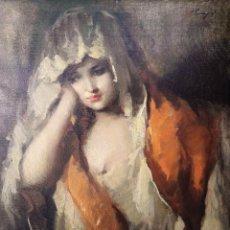 Arte: JOSÉ PUYET PADILLA (1922-2004), PINTOR MALAGUEÑO - MADONNA. Lote 97756484