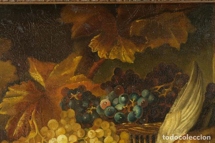 Arte: Óleo sobre lienzo Bodegón frutas y naturaleza muerta principios siglo XX - Foto 3 - 180497210