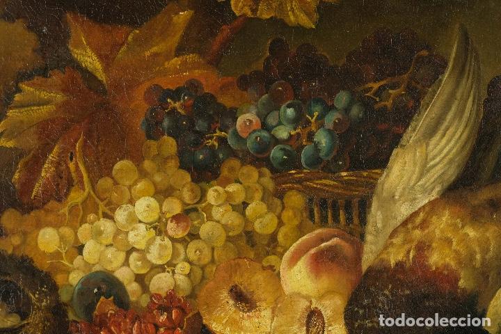 Arte: Óleo sobre lienzo Bodegón frutas y naturaleza muerta principios siglo XX - Foto 4 - 180497210
