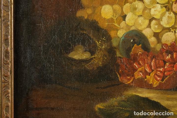 Arte: Óleo sobre lienzo Bodegón frutas y naturaleza muerta principios siglo XX - Foto 5 - 180497210