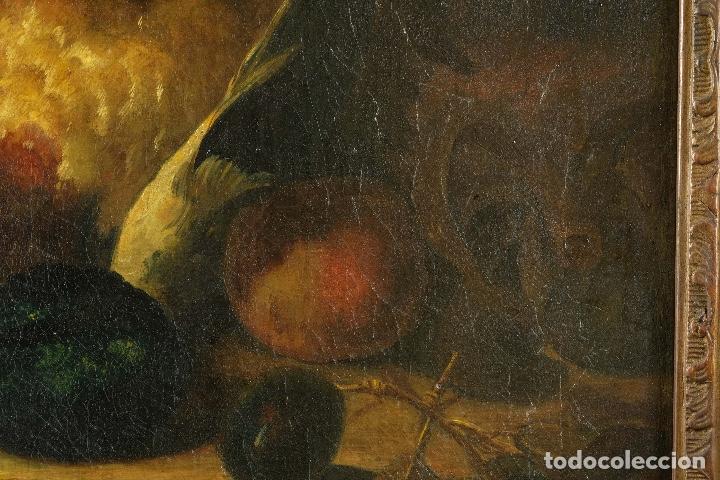 Arte: Óleo sobre lienzo Bodegón frutas y naturaleza muerta principios siglo XX - Foto 6 - 180497210