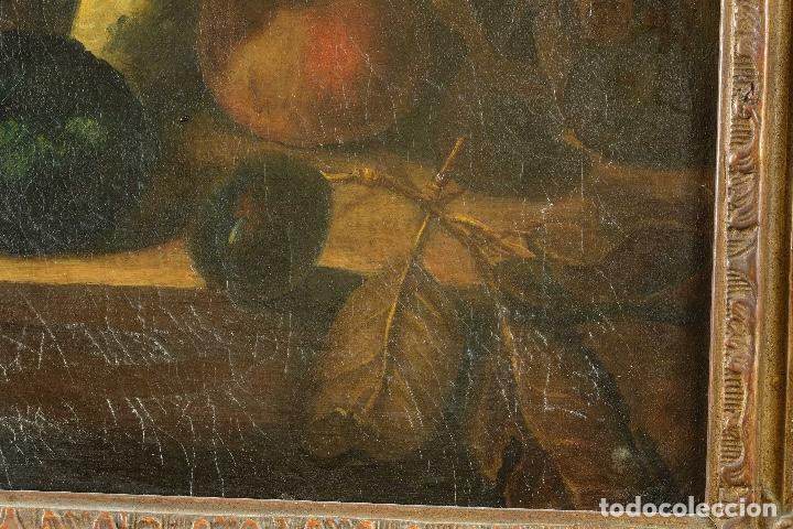 Arte: Óleo sobre lienzo Bodegón frutas y naturaleza muerta principios siglo XX - Foto 8 - 180497210