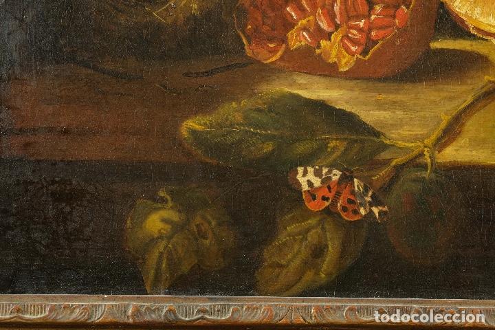 Arte: Óleo sobre lienzo Bodegón frutas y naturaleza muerta principios siglo XX - Foto 9 - 180497210