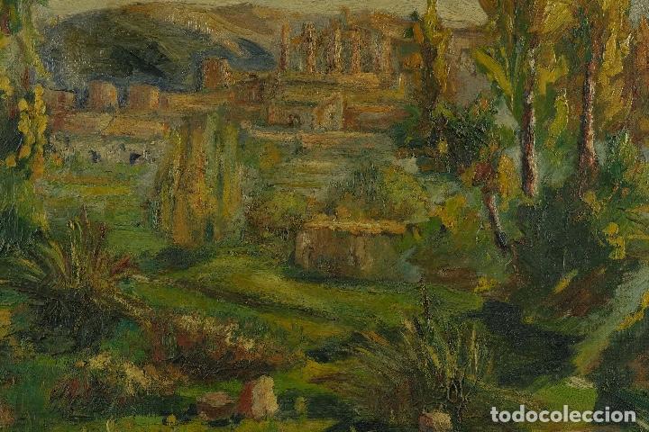 Arte: Óleo sobre lienzo Paisaje campo firmado Palau Mediados siglo XX - Foto 5 - 97785479