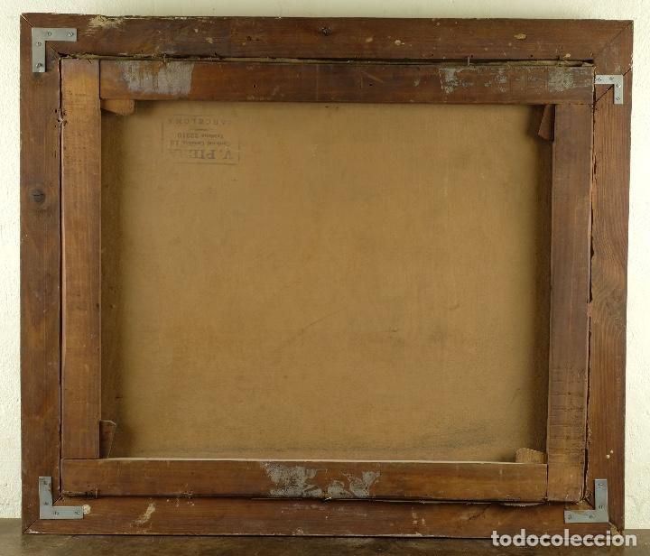 Arte: Óleo sobre lienzo Paisaje campo firmado Palau Mediados siglo XX - Foto 9 - 97785479