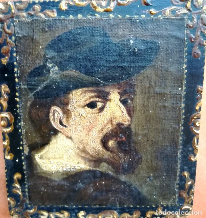 Arte: PINTURA,SIGLO XVIII,POSIBLE RETRATO MIGUEL DE CERVANTES DE JOVEN,AUTOR DE DON QUIJOTE DE LA MANCHA - Foto 5 - 97821879