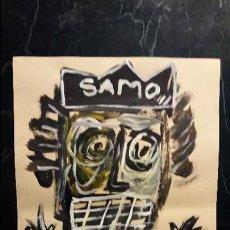 Arte: JEAN MICHEL BASQUIAT ARTISTA AMERICANO OLEO SOBRE PAPEL FIRMADA. Lote 97874471