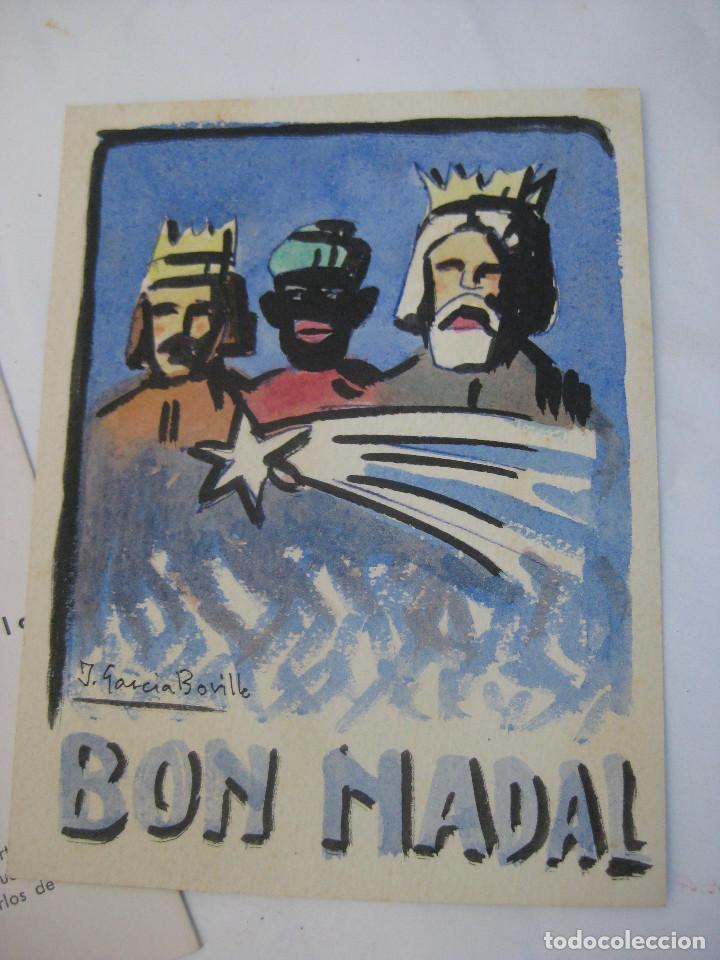 DIBUJO PINTURA ORIGINAL JOSE GARCIA BORILLO 1941 VALENCIA BELLAS ARTES SAN CARLOS BON NADAL (Arte - Pintura - Pintura al Óleo Contemporánea )