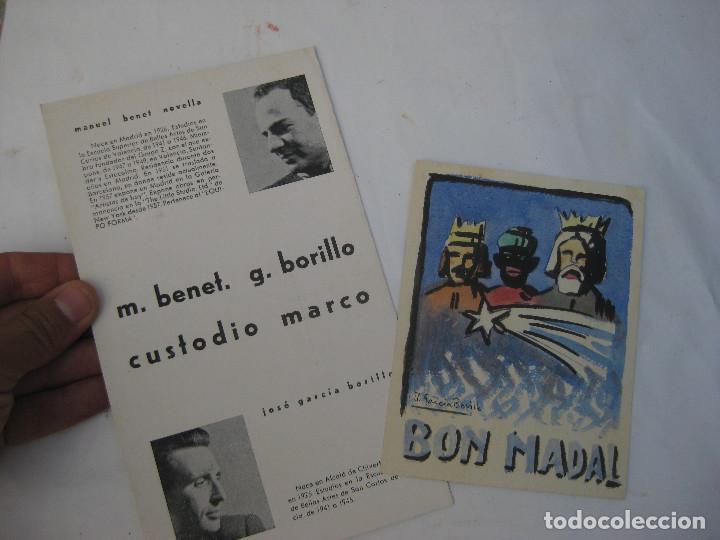 Arte: DIBUJO PINTURA ORIGINAL JOSE GARCIA BORILLO 1941 VALENCIA BELLAS ARTES SAN CARLOS BON NADAL - Foto 2 - 97956651