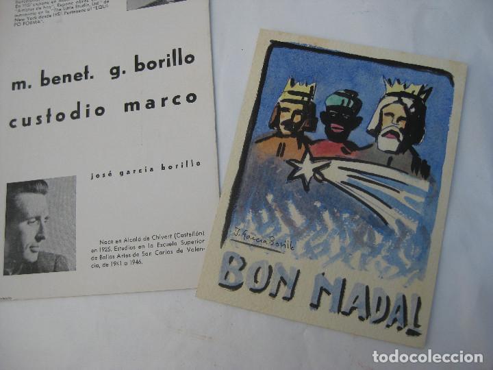 Arte: DIBUJO PINTURA ORIGINAL JOSE GARCIA BORILLO 1941 VALENCIA BELLAS ARTES SAN CARLOS BON NADAL - Foto 3 - 97956651