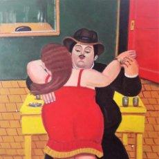 Arte: FIRMA ILEGIBLE - HOMENAJE A BOTERO - ÓLEO LIENZO. Lote 97990295