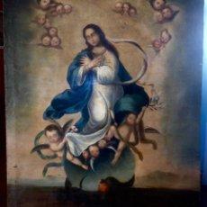 Arte: ANTIGUA PINTURA , OLEO SOBRE LIENZO , SIGLO 18 , PURISIMA . Lote 98076767