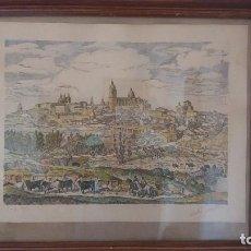 Arte: PRECIOSA VISTA PLUMA DE ABRAIDO DEL REY DE SALAMANCA ANTIGUS. Lote 98101031