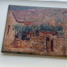 Arte: PAISAJE RURAL, TOMAS CAMPUZANO Y AGUIRRE, SANTANDER.. Lote 98116667
