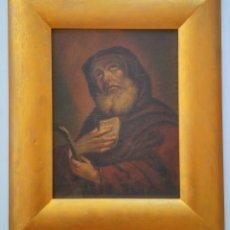 Arte: MARAVILLOSO OLEO SOBRE TABLA, FINALES DEL SIGLO XVII, ESCUELA ITALIANA, CARAVACCIO, CLAROSCURO. Lote 98211683