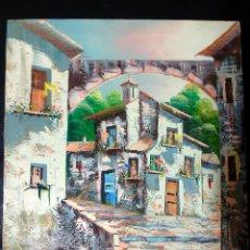 Arte: BONITO CUADRO A OLEO DE - M. REIG - ORIGINAL EN LIENZO SOBRE BAST . DE AÑOS 80 .TAMAÑO 42,5 X 33 CMS. Lote 98415467