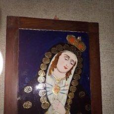 Arte: PRECIOSA PINTURA DE VIRGEN EN CRISTAL SIGLO XVIII - XIX. Lote 98578471