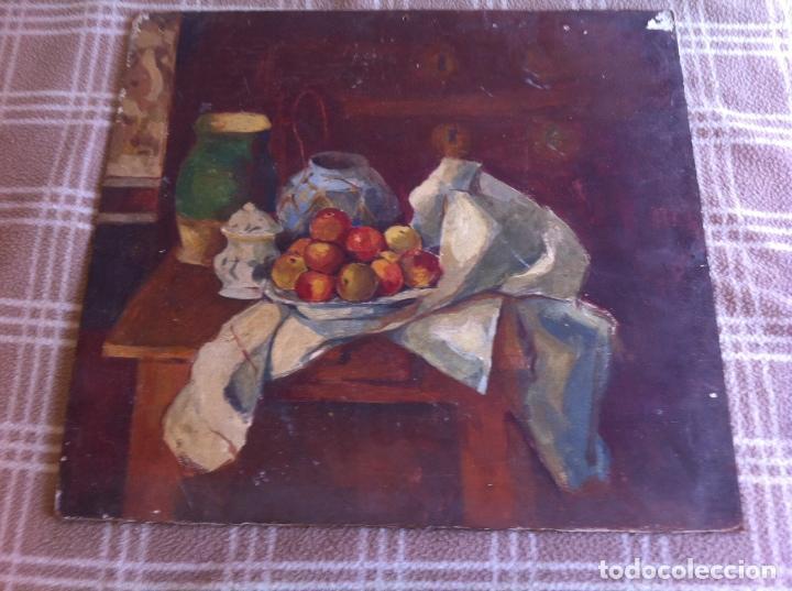 Arte: Precioso bodegón antiguo sobre tabla - Foto 2 - 98686019