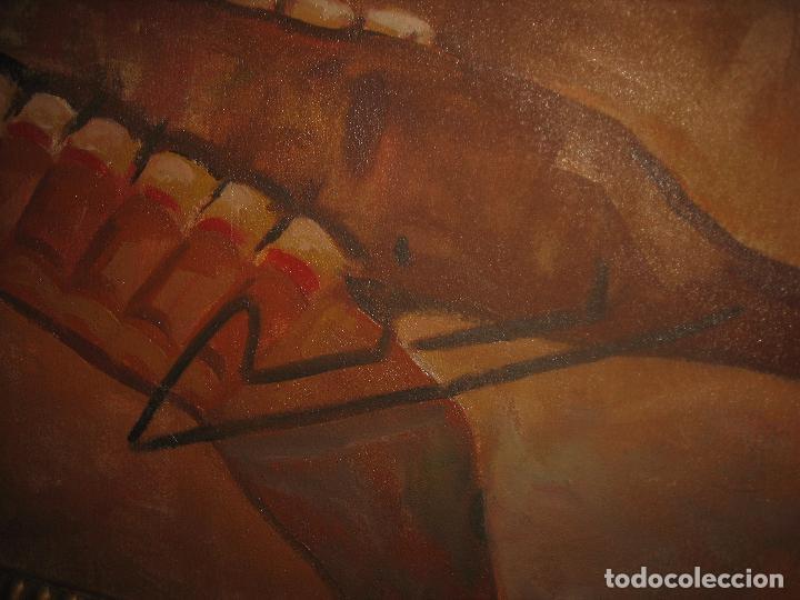 Arte: ANTIGUA PINTURA IMPRESIONISTA 160 x 120 OLEO GRANDES DIMENSION FIRMADO ILEGIBLE - Foto 5 - 98721975