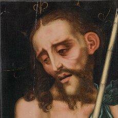 Arte: LUIS DE MORALES , EL DIVINO . ECCE HOMO . PAINTING OIL PANEL CATALOGADO POR CHRISTIE'S Y SOTHEBY'S. Lote 98933747