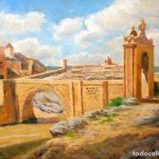 Arte: FRANCISCO CARBONELL MASSABÉ (BARCELONA,1928) OLEO TELA. PUENTE DE TOLEDO. Lote 98980967