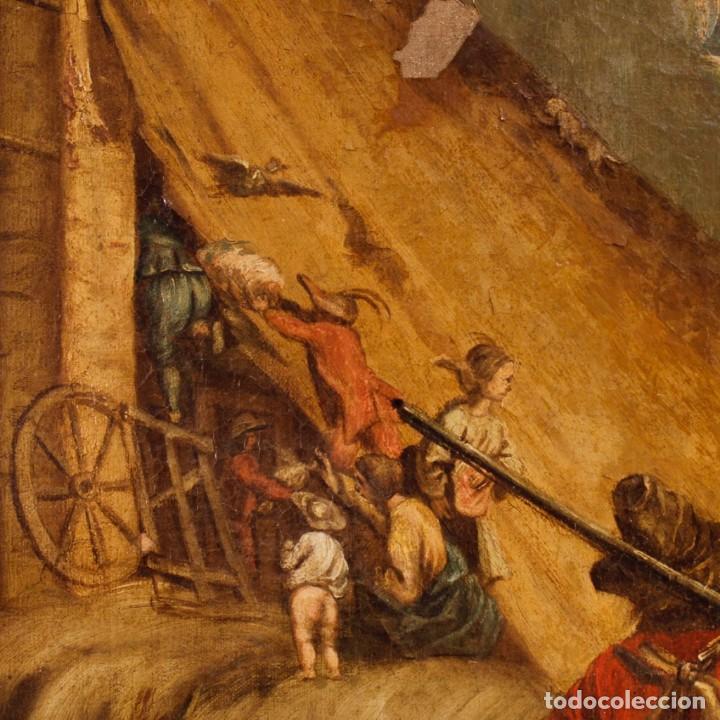 Arte: Antigua pintura italiana de paisaje con los personajes del siglo XVIII - Foto 7 - 99036503