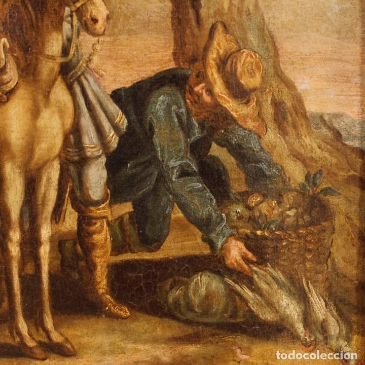 Arte: Antigua pintura italiana de paisaje con los personajes del siglo XVIII - Foto 9 - 99036503