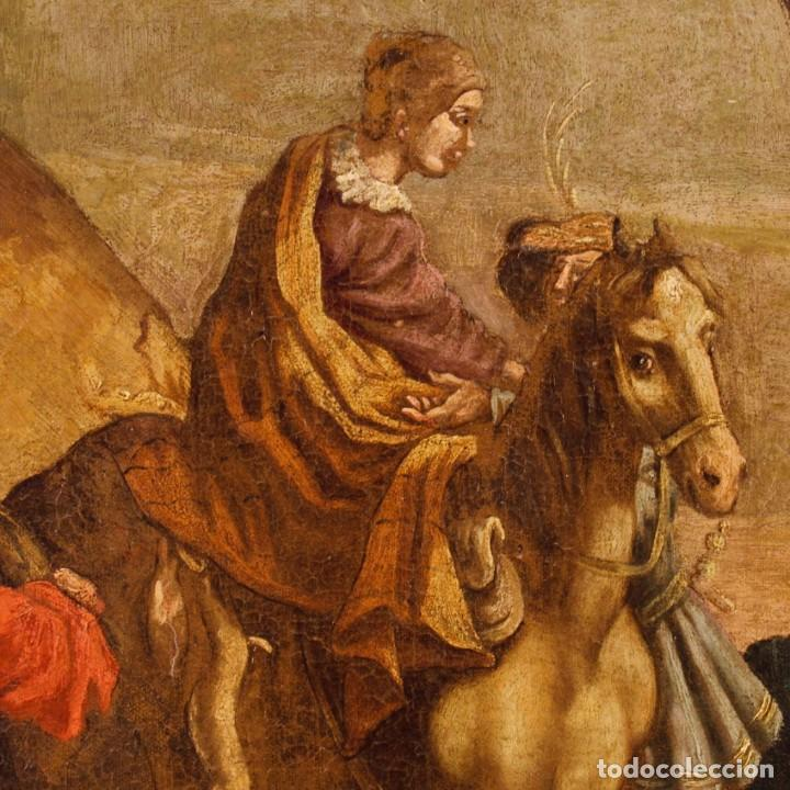 Arte: Antigua pintura italiana de paisaje con los personajes del siglo XVIII - Foto 10 - 99036503