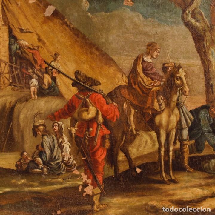 Arte: Antigua pintura italiana de paisaje con los personajes del siglo XVIII - Foto 11 - 99036503
