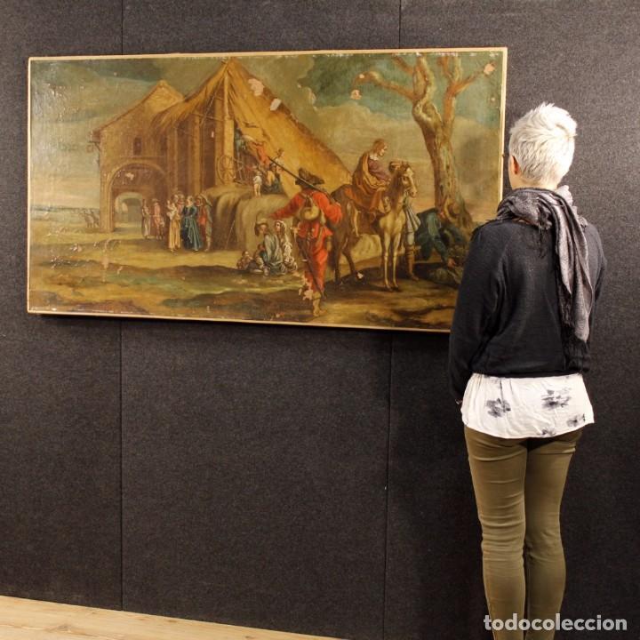 Arte: Antigua pintura italiana de paisaje con los personajes del siglo XVIII - Foto 13 - 99036503