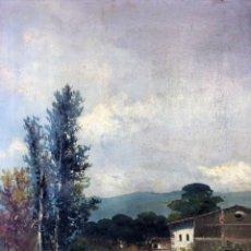 Arte: PAISAJE CON CASA DE CAMPO. ÓLEO SOBRE LIENZO. FIRMADO E. NEBOT. ESPAÑA. XIX-XX. Lote 99061619