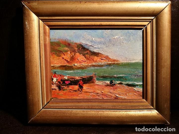 MARINA POR SEGUNDO MATILLA (1862-1937) (Arte - Pintura - Pintura al Óleo Moderna sin fecha definida)