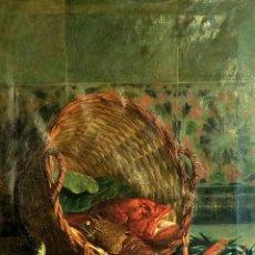 Arte: BODEGÓN CON FRUTOS DE MAR. ÓLEO SOBRE LIENZO. FIRMADO R.(RAMON) MARTÍ ALSINA. ESPAÑA XIX. Lote 99152523