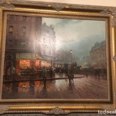 Arte: PARIS, ÓLEO SOBRE LIENZO DE EMILIO PAYÉS. Lote 99178351